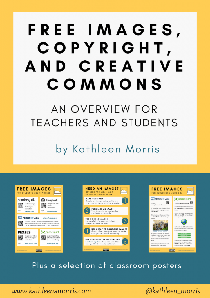 Free eBook for teachers and students explaining free images, copyright, and Creative Commons