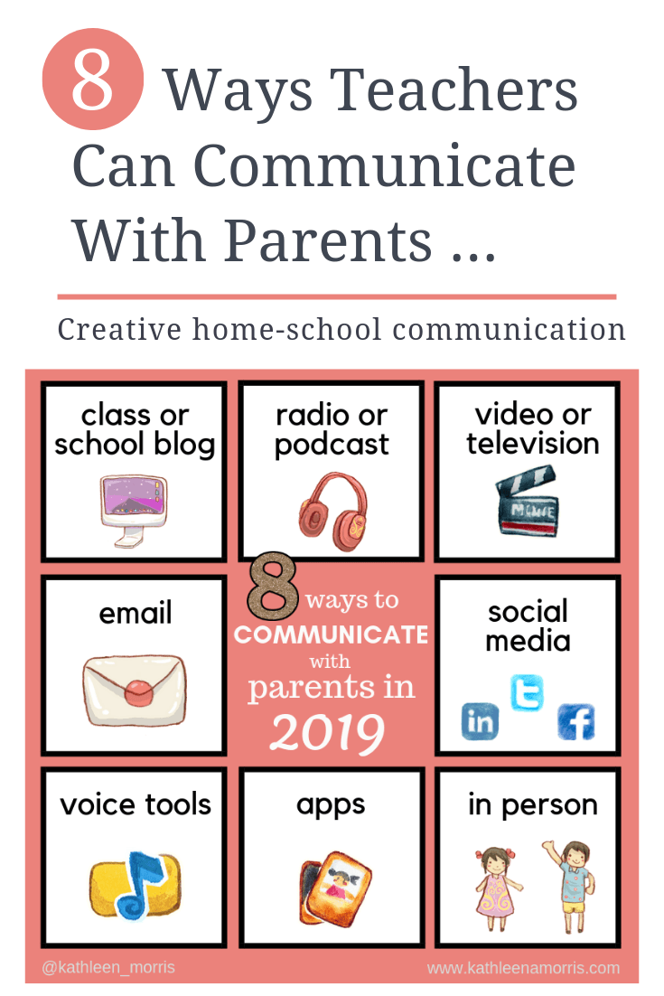 What are the best ways for teachers to communicate with parents using technology? Here are eight creative ideas with effective examples from schools and classrooms around the world. How will your school be communicating with families in 2019?
