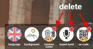 Press on the x to delete a widget