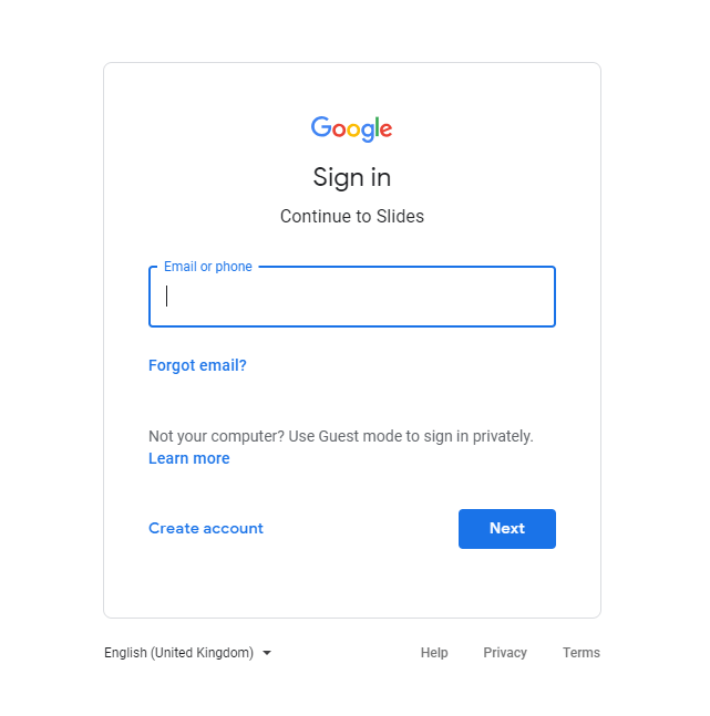 Sign in to your Google Account if prompted