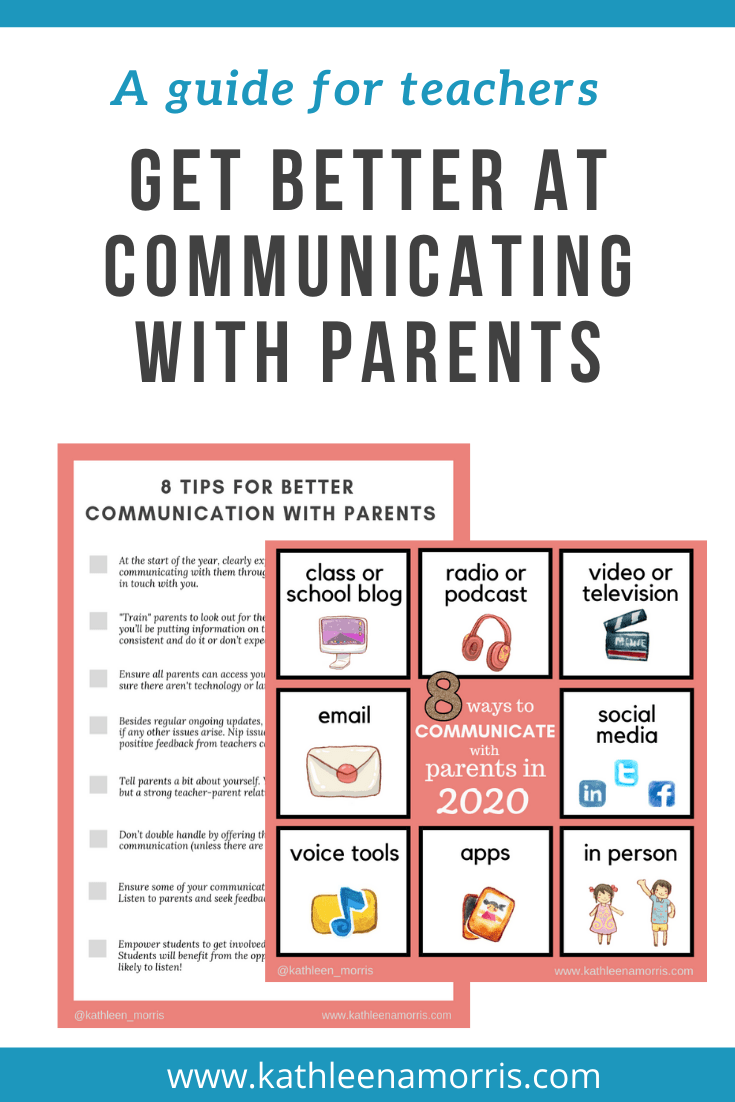 What are the best ways for teachers to communicate with parents using technology? Here are 8 creative ideas with effective examples from schools and classrooms around the world. How will your school be communicating with families in 2020? Includes free PDF with 8 tips for teachers for better communication with parents.