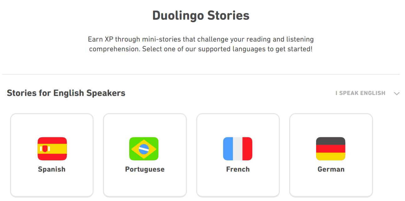 Screenshot Duolingo Stories