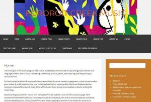 Screen capture of Kororit Creek music blog