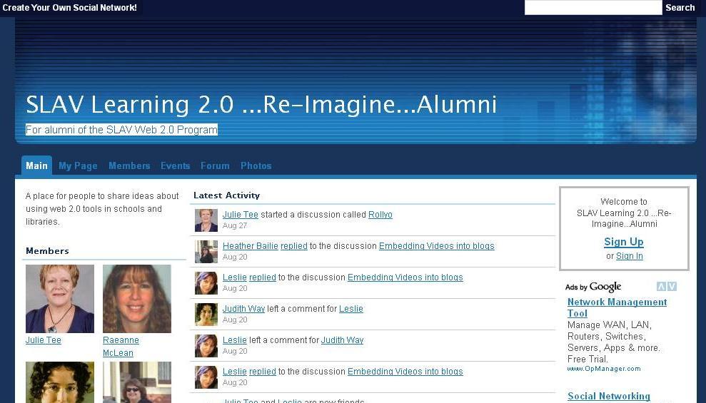 SLAV Web 2.0 alumni ning