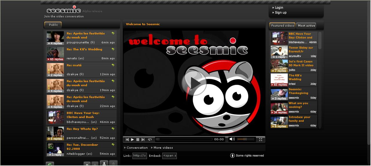 Seesmic homepage