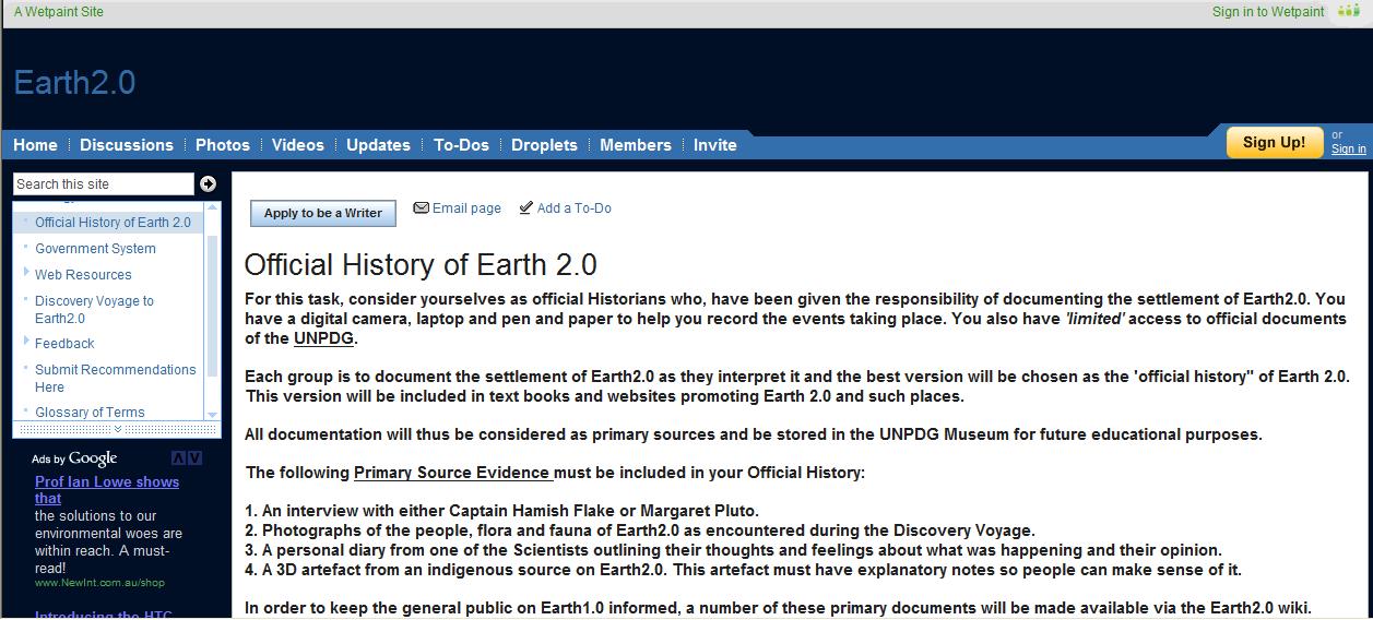 Earth 2.0 wiki