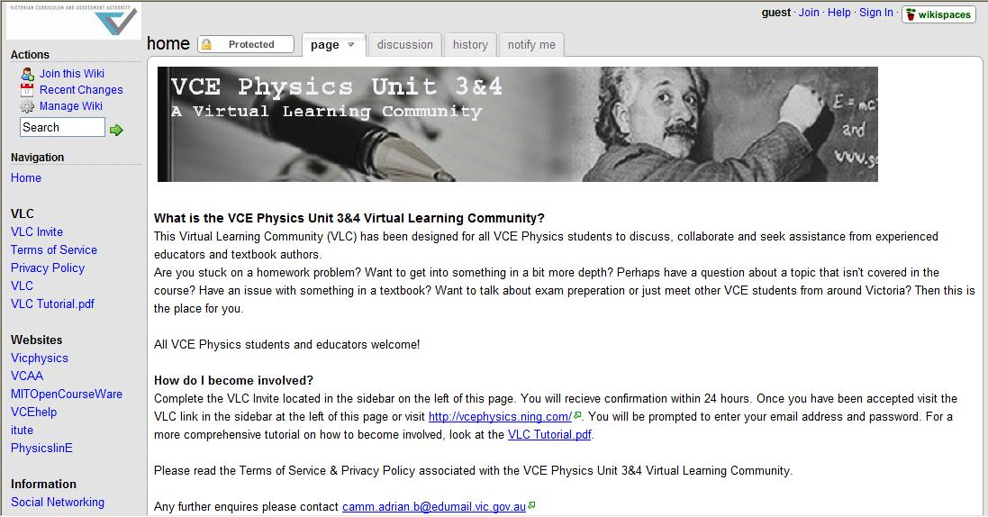 Adrian's Virtual Learning Community