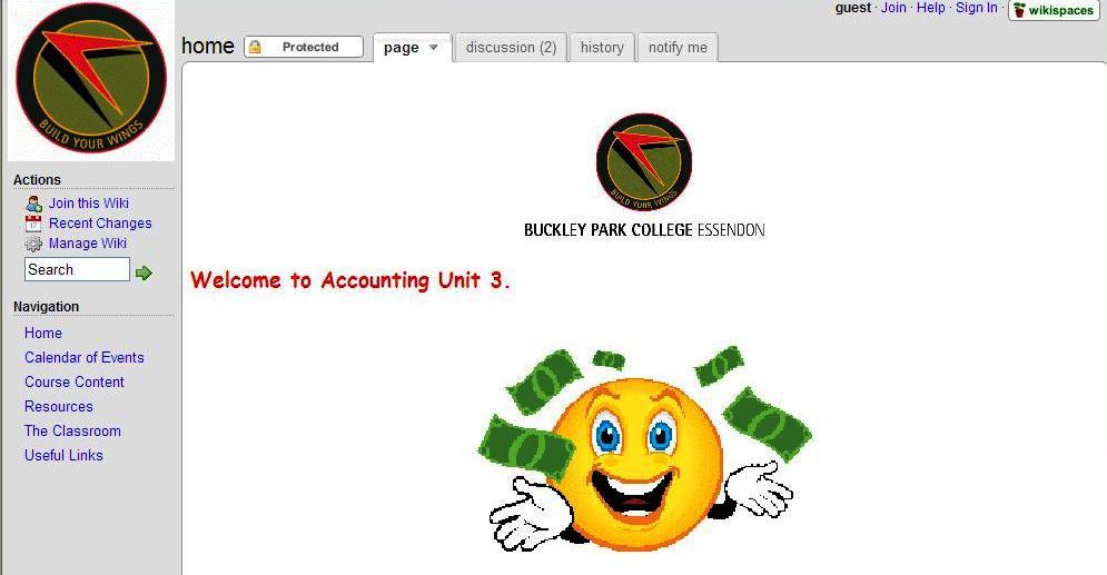 Accounting homepage