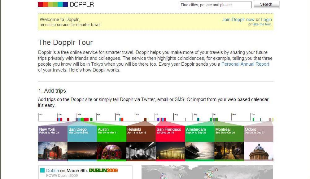 Dopplr tour