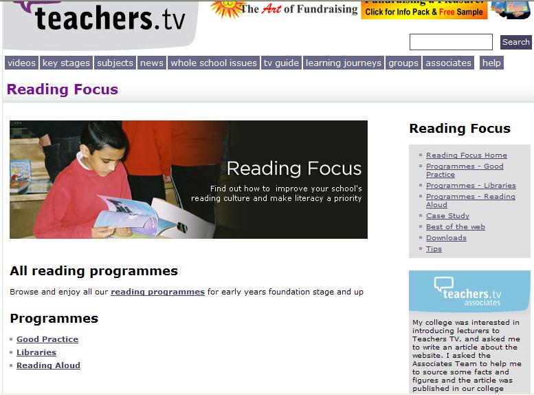 Reading focus on Teachers' TV