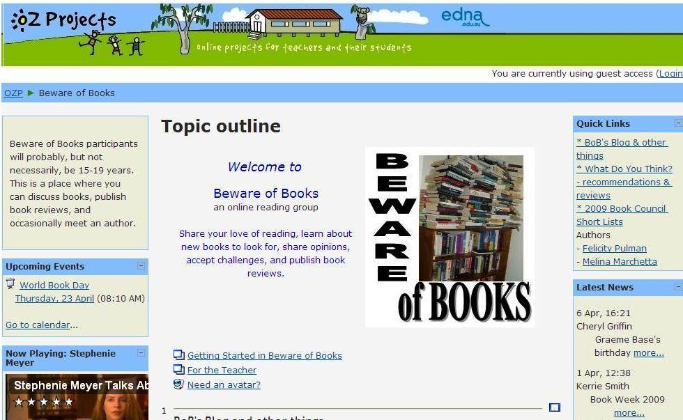 Beware of books homepage