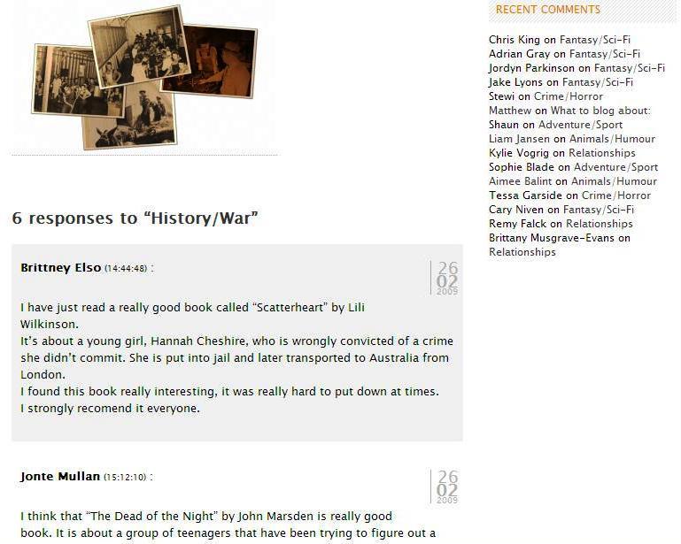 History/war page