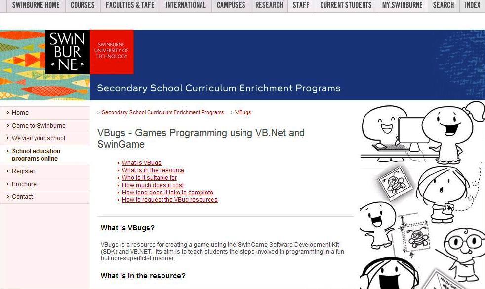 VBugs homepage