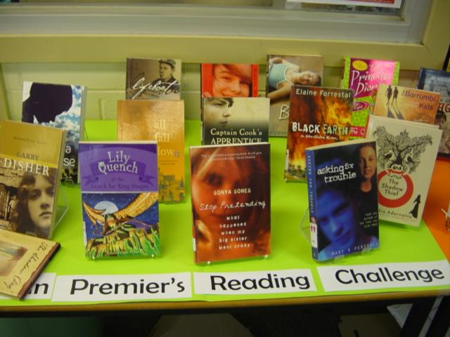 Premier's Reading Challenge display