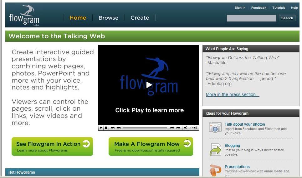 Flowgram homepage