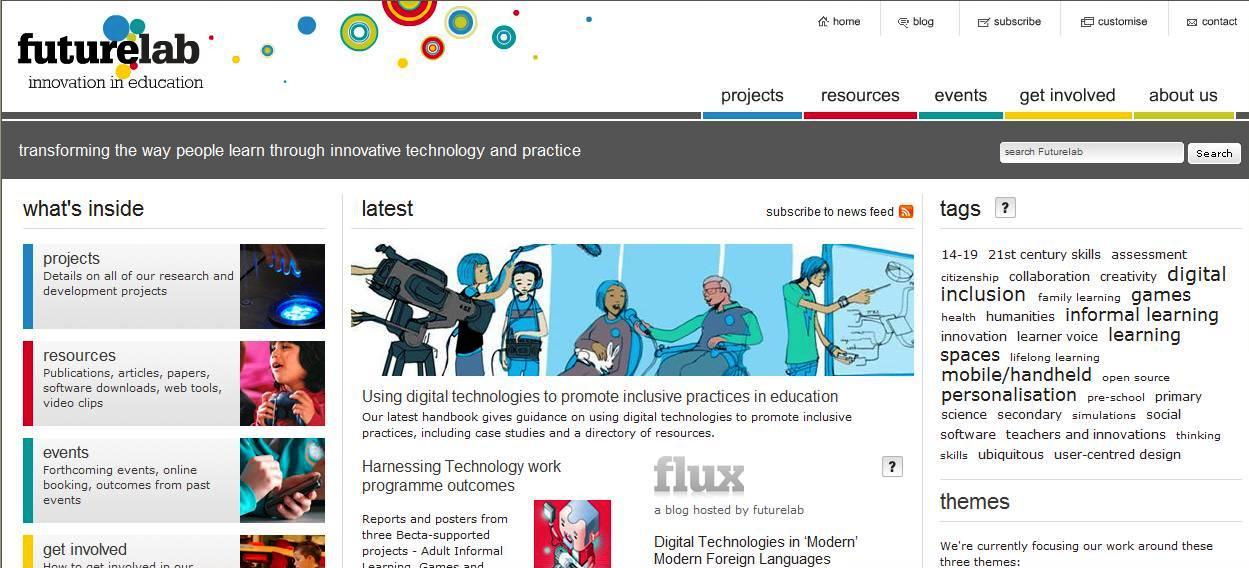 Futurelab homepage