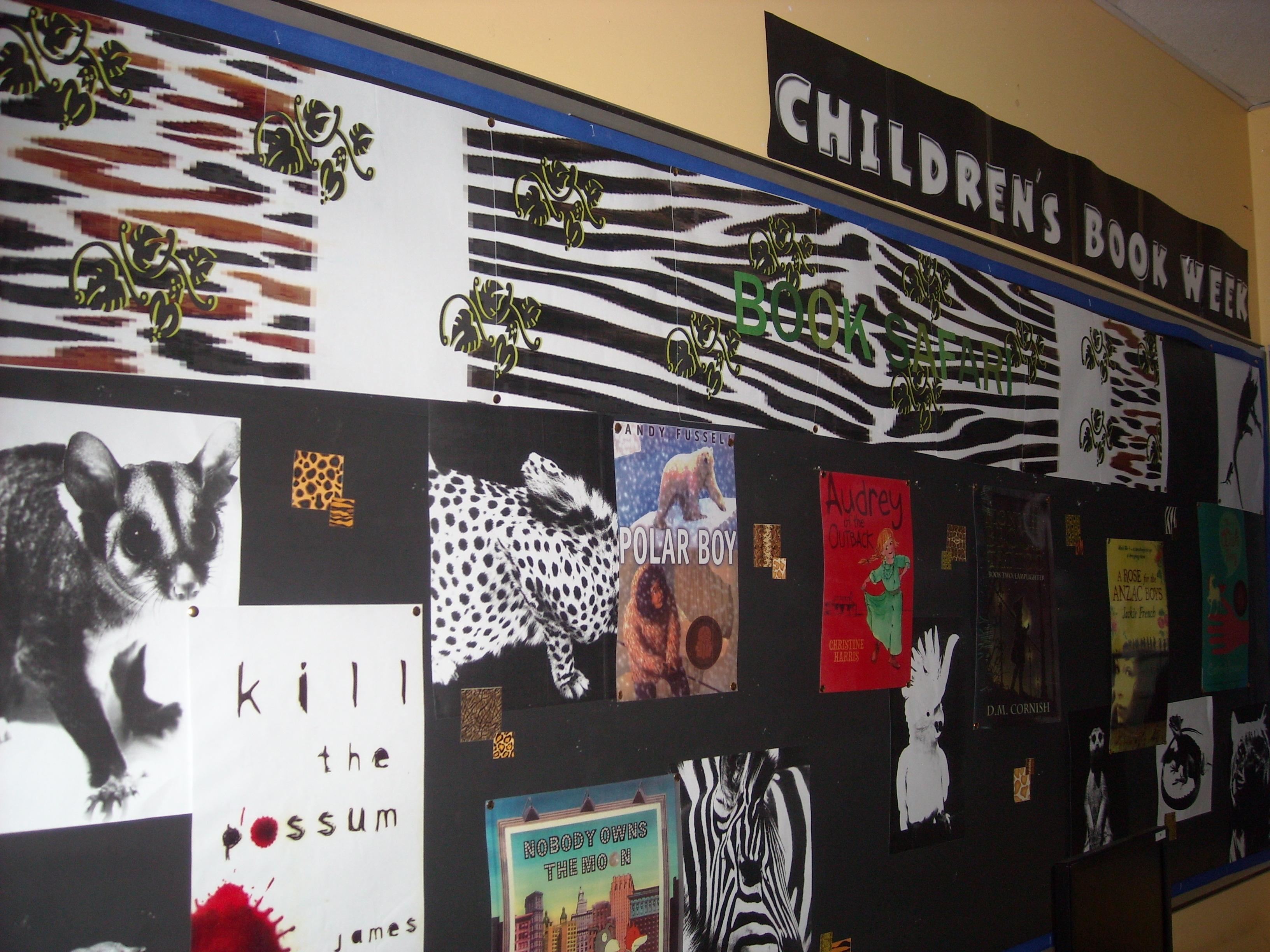 Book Safari display