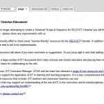 VELS ICT wiki homepage