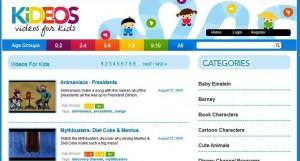 Kideos homepage