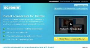 Screenr homepage