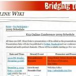 K-12 Online Conference 2009
