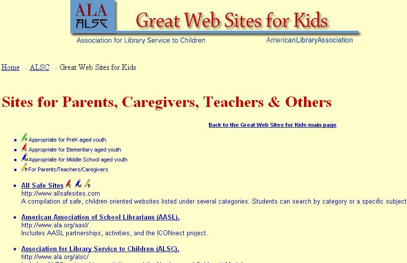 ALA great websites