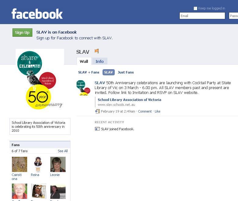 SLAV50 Facebook