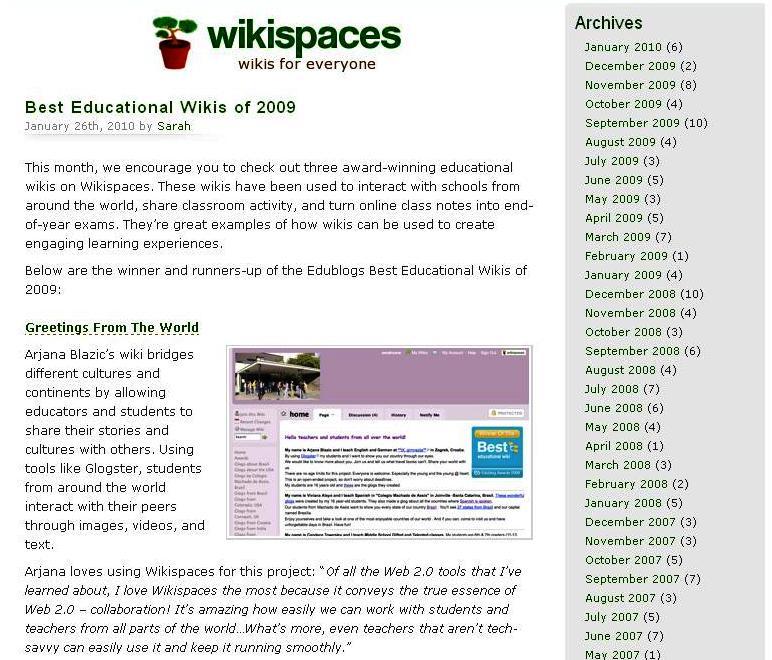 best wikis 2009