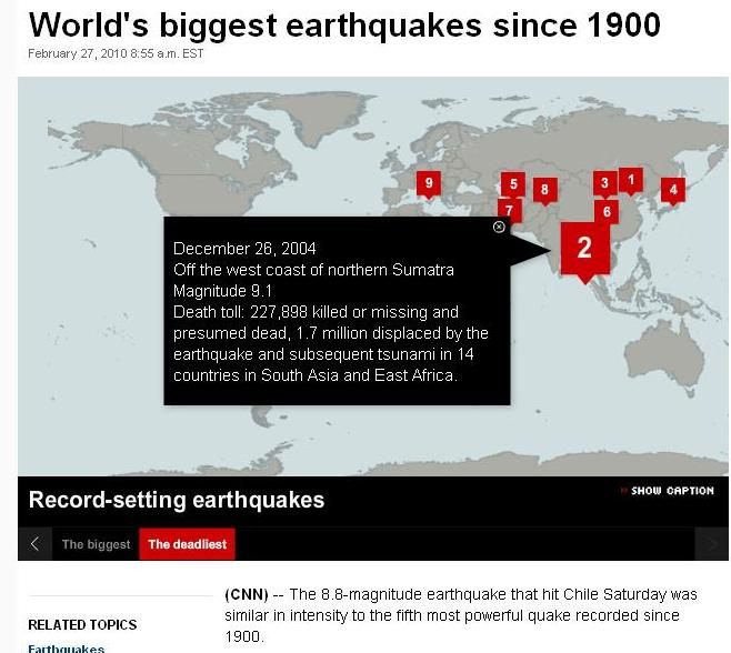 Deadliest quakes