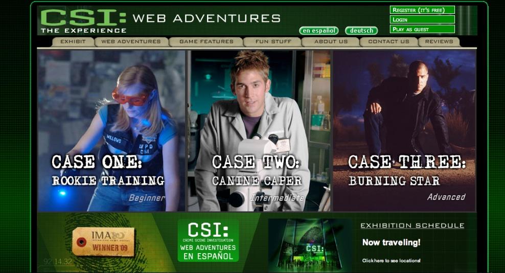 CSI web adventures