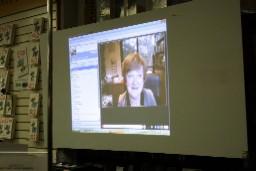 Hazel on webcam from Melbourne