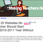 Top 20 Websites No Teacher Should Start the Year Without