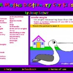 An online maths dictionary for kids