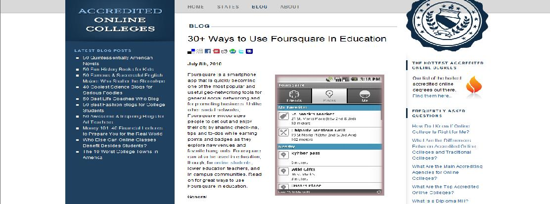 30+ ways to use foursquare in education