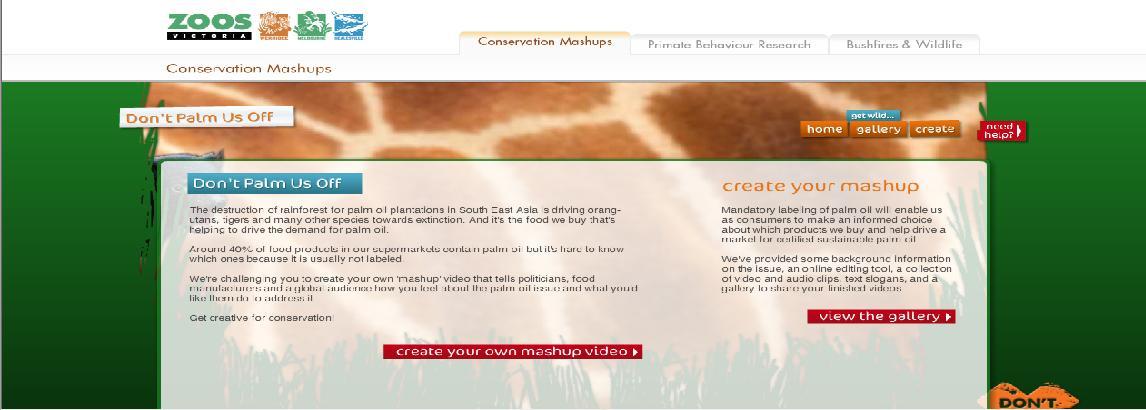 Conservation mashups