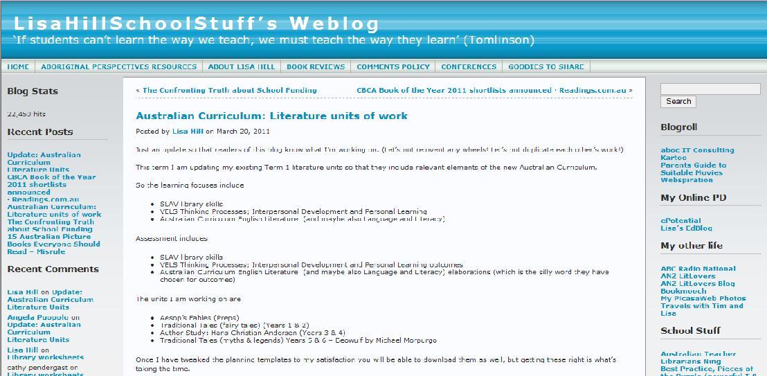 LisaHillSchoolStuff's Weblog