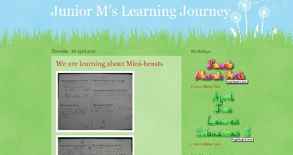 Junior M's Learning Journey