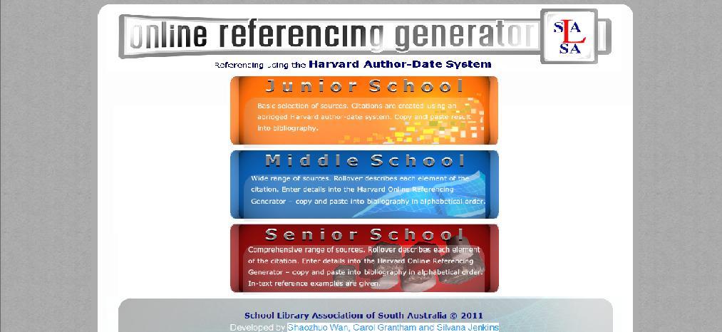 Online Referencing Generator