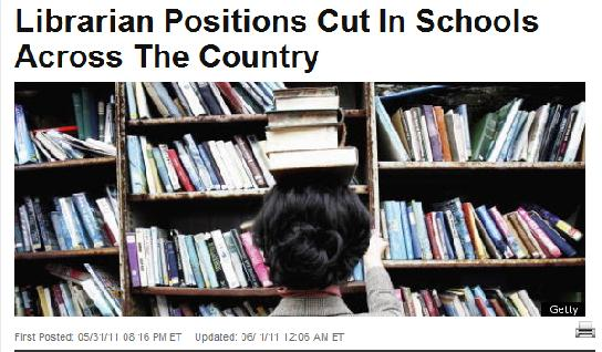 Librarian positions cut...