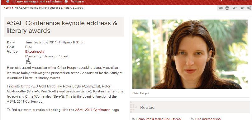 ASAL Conferene keynote keynote address and literary awards