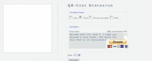 Kaywa QR code generator