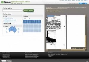 Trove digitised newspapers