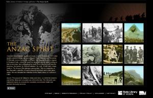 Go to SLV ANZAC Spirit gallery