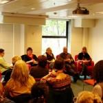 Kelly Gardiner, Cindy Tschernitz, Sandy Phillips, John Pearce and Cathy Hainstock explore the topic of Information vs. Skills