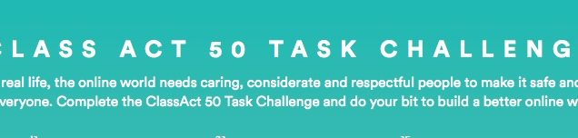 ClassAct 50 Task Challenge for digital citizenship