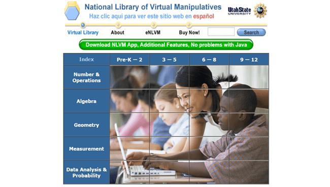 National Library of Virtual Manipulatives (NLVM)