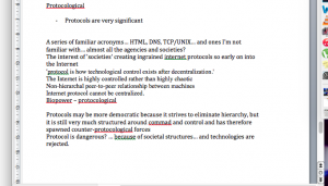 Actual screenshot of the notes I was taking during the reading. You'll notice the abundance of question marks.