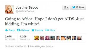 Justine Sacco - Tweet
