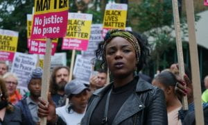 A protest over police violence against black communities. Photograph: Alamy Stock Photo