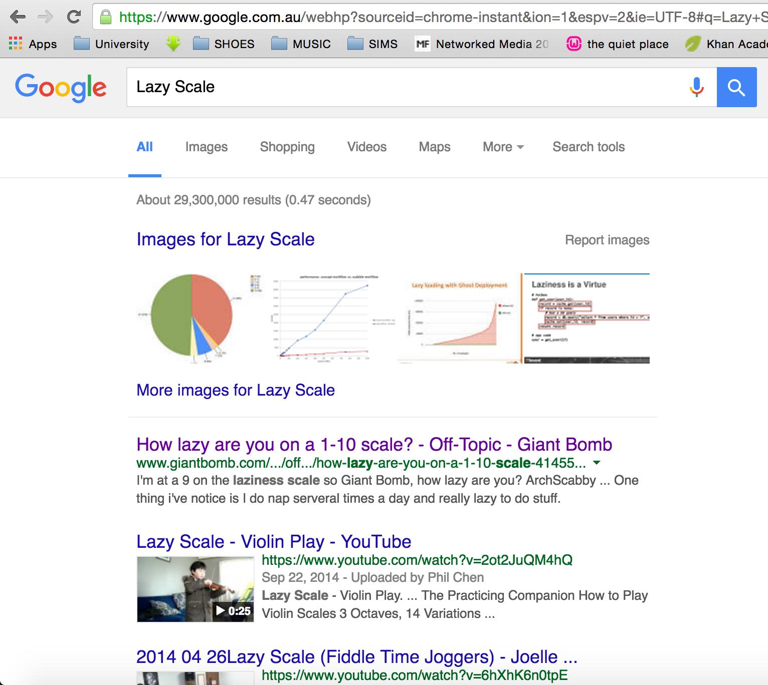 Google Search - https://www.google.com.au/webhp?sourceid=chrome-instant&ion=1&espv=2&ie=UTF-8#q=Lazy+Scale